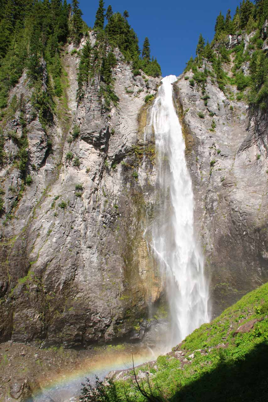 Van Trump Falls was the pre-cursor to Comet Falls (shown here) though Van Trump Falls was no slouch in its own right