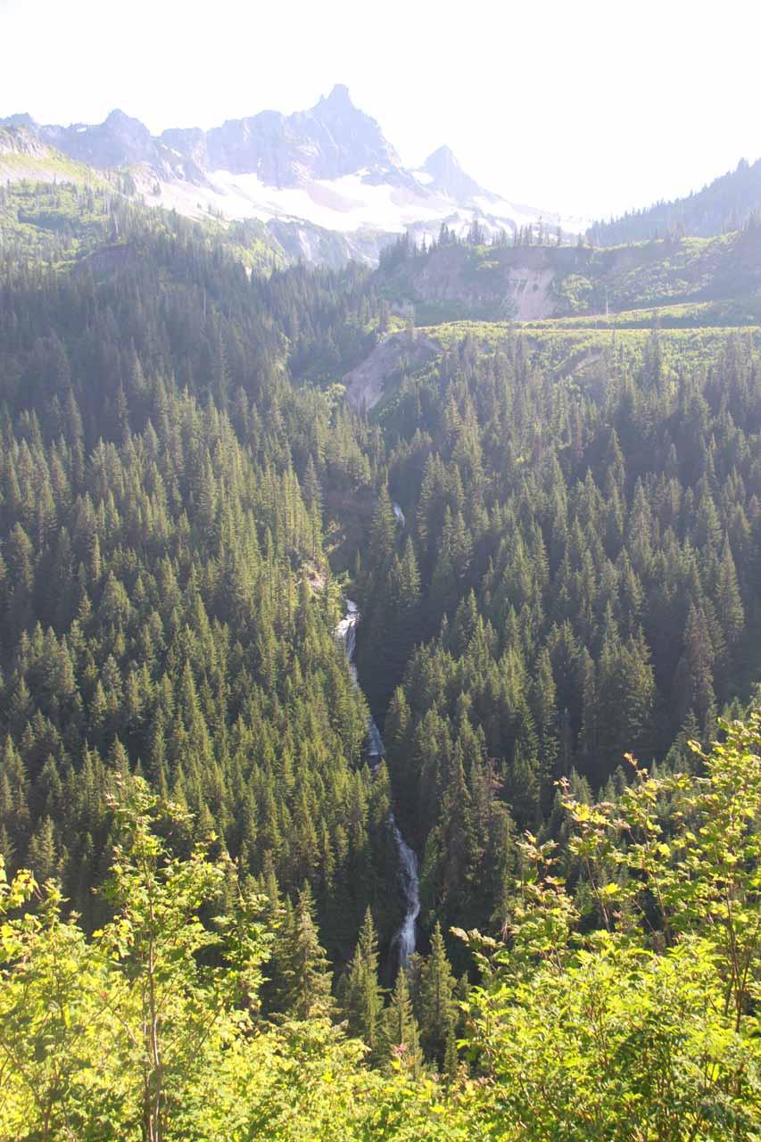 Context of the falls as seen across Stevens Canyon