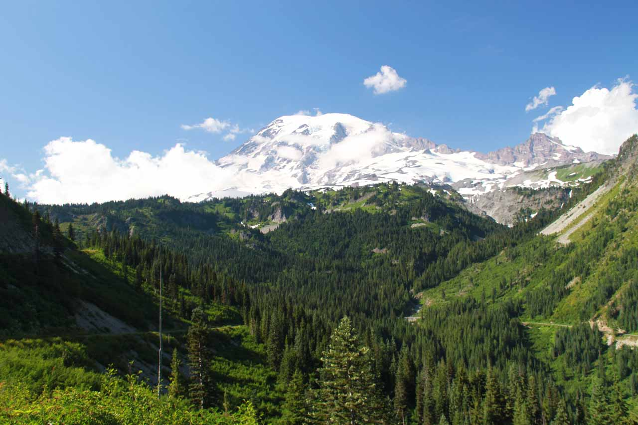 View of Mt Rainier from the Bench