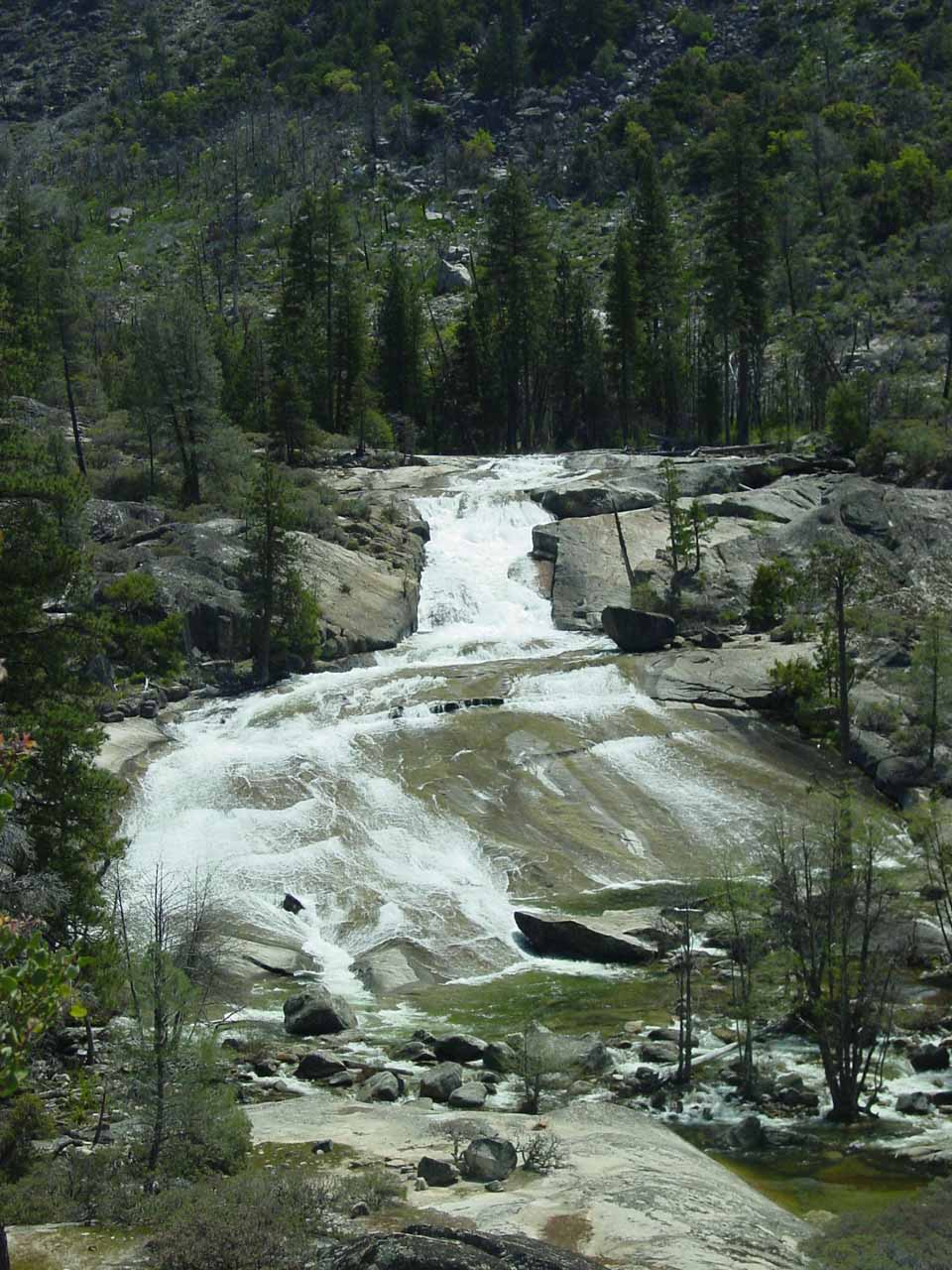 More satisfying look at the first cascade of Rancheria Falls
