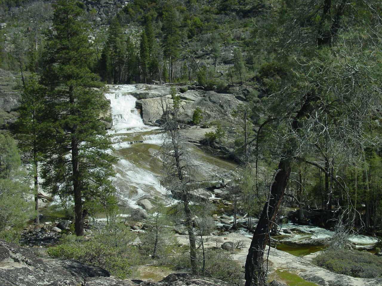 The first cascade of Rancheria Falls