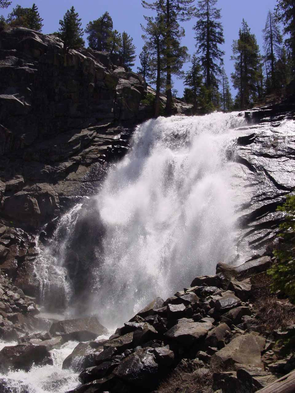 For a trip down memory lane, here was Rancheria Falls in high flow back in early June 2002