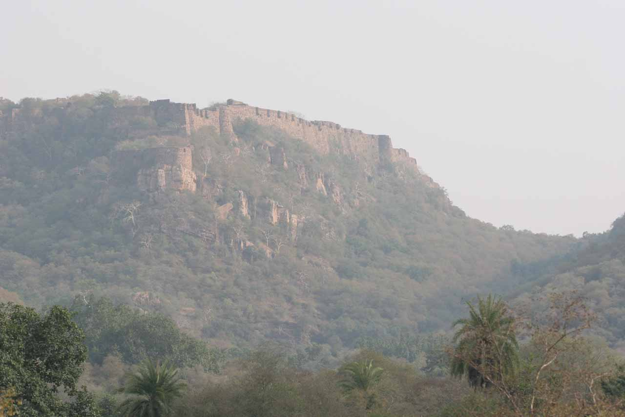Ranthambore Fort up in the distance