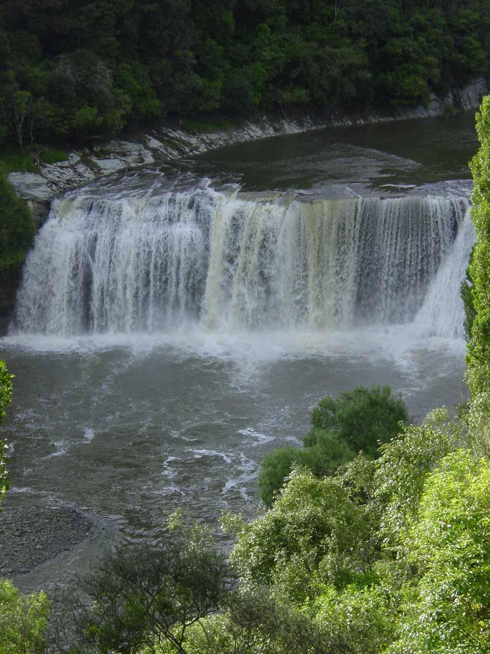 Closer portrait shot of Raukawa Falls from 2004