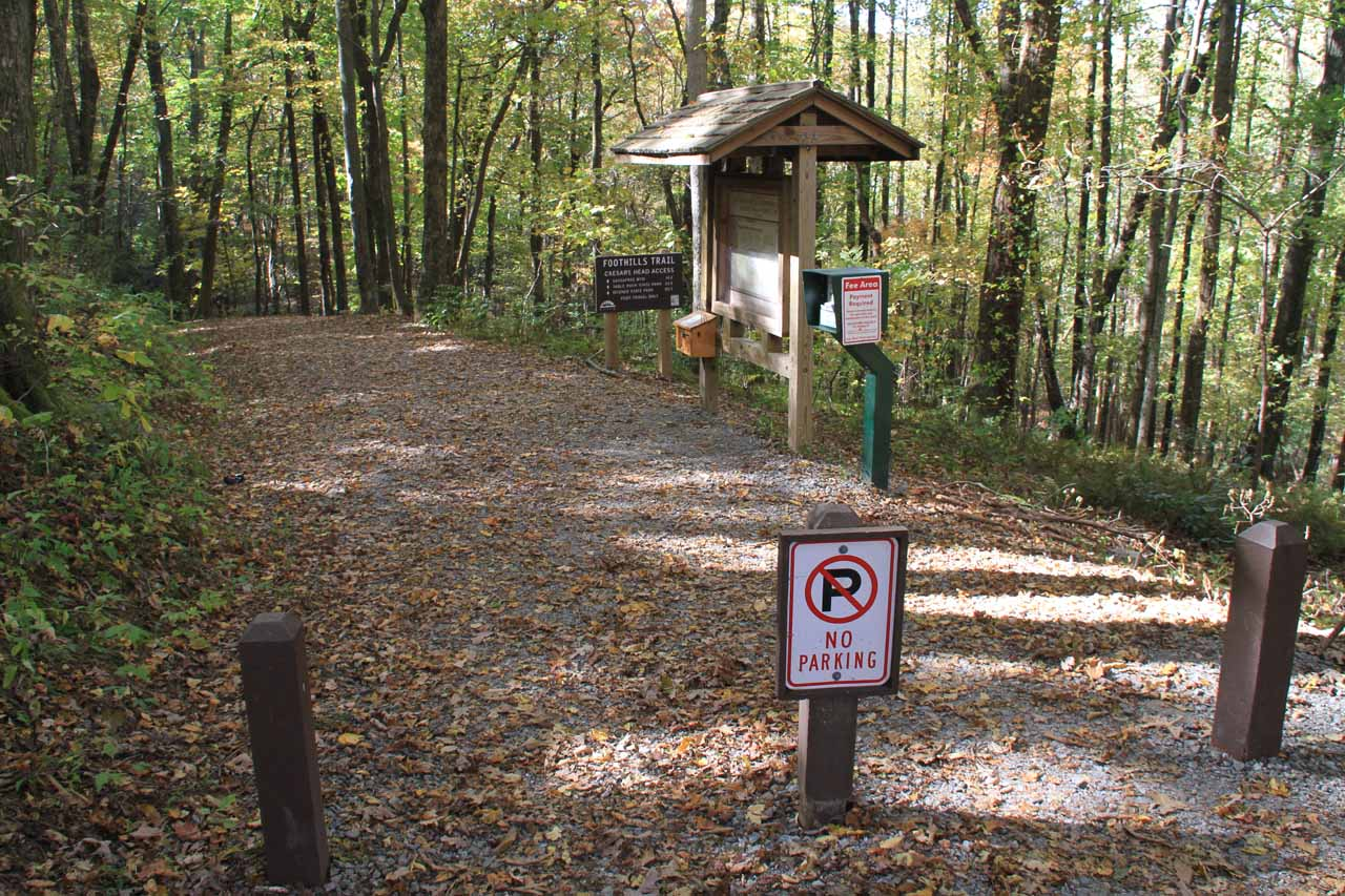 The official trailhead