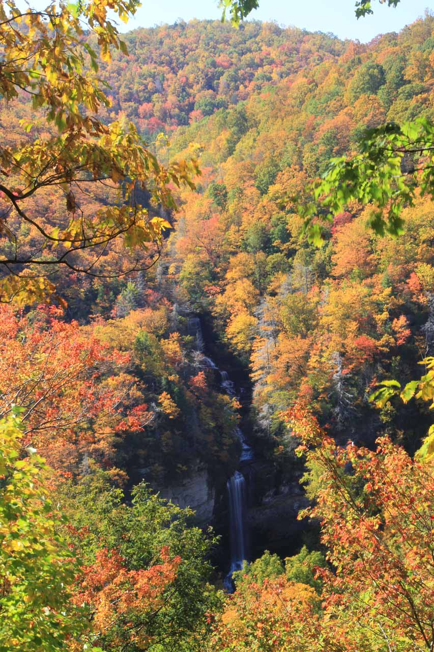 Gorgeous Fall colors surrounding Raven Cliff Falls