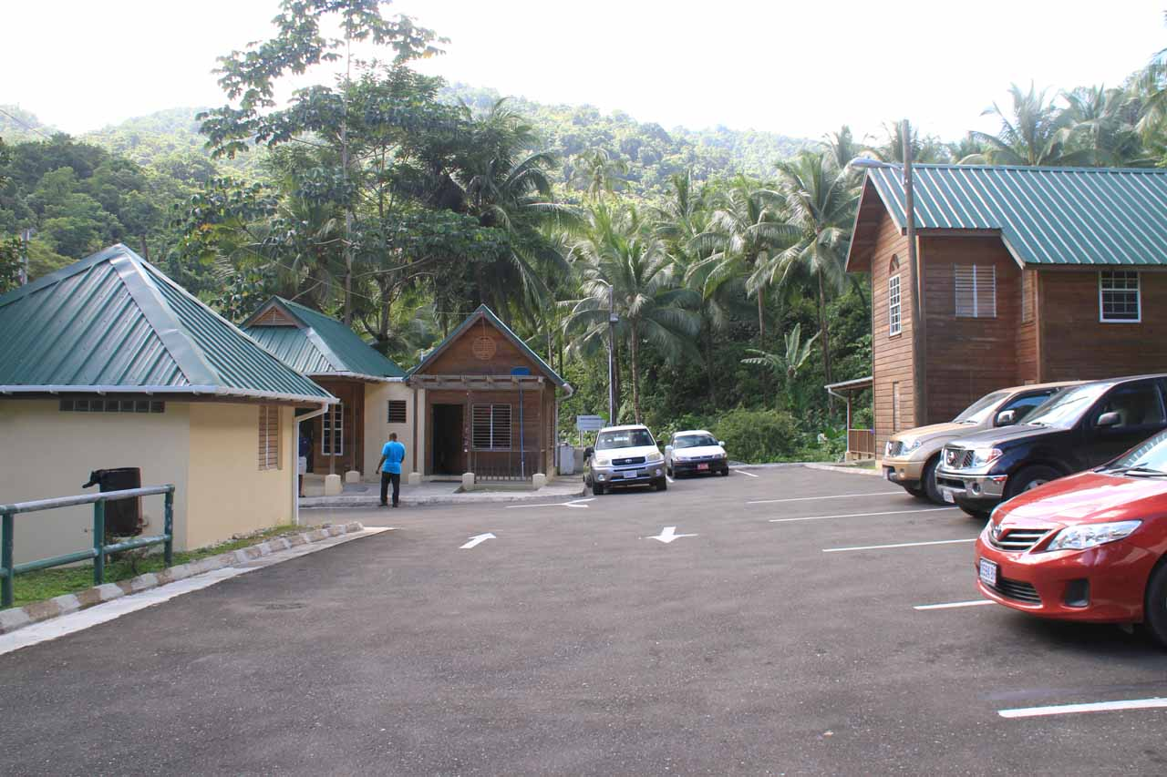 The car park at Reach Falls