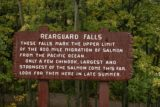 Rearguard_Falls_002_09202010 - Sign talking about the salmon migration to the Rearguard Falls, which marked the upper limit of their 800-mile migration from the Pacific Ocean