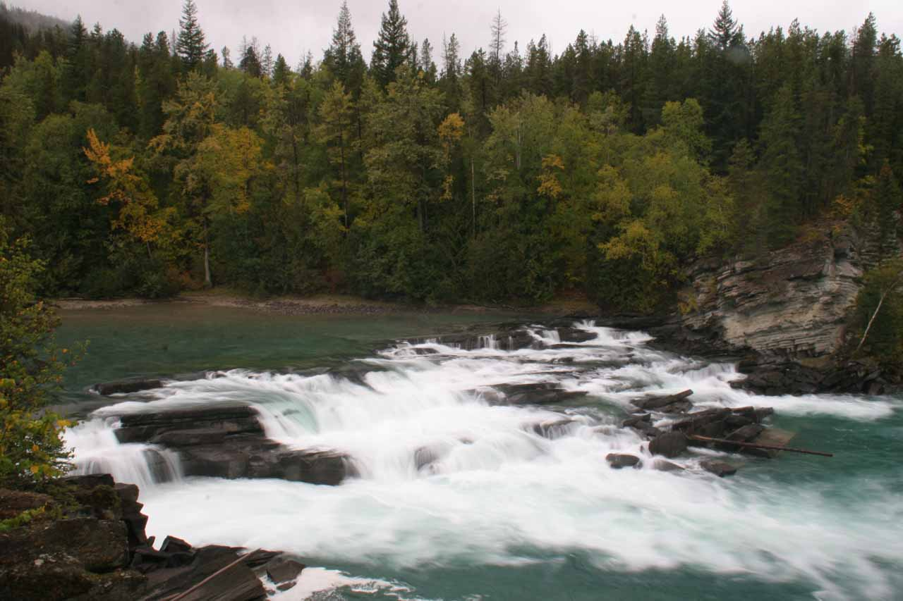 Wide profile view of Rearguard Falls