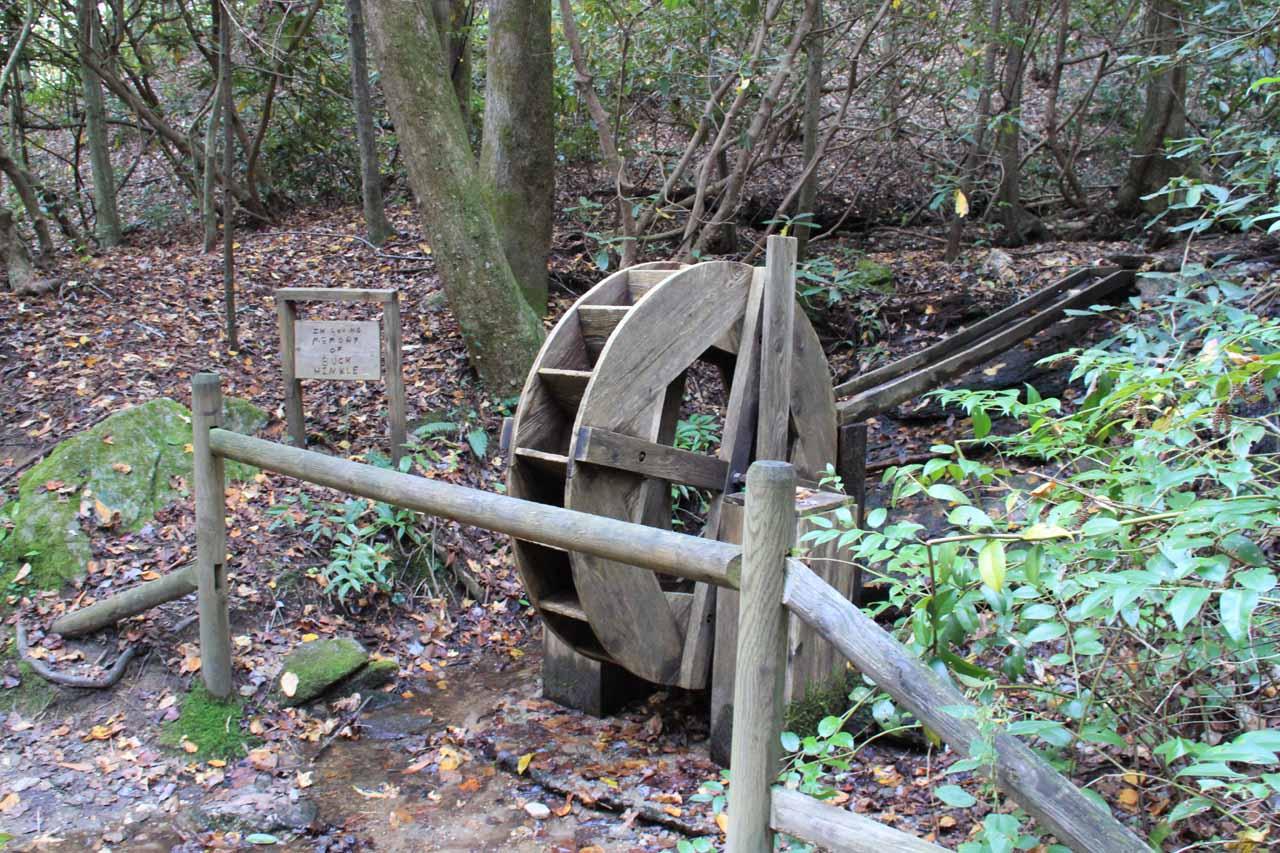 Waterwheel along the Reedy Cove Falls trail