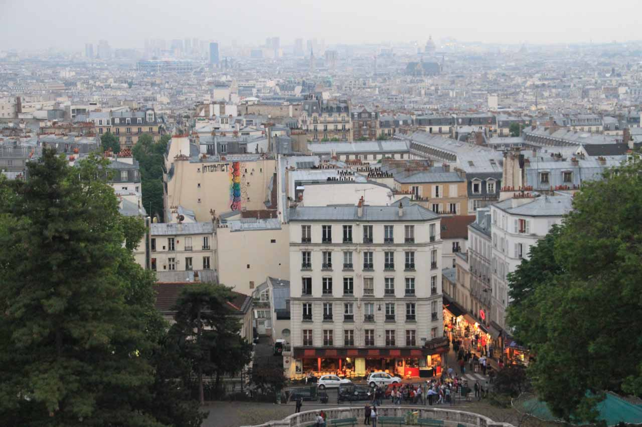 After showing up in Lyon, we then caught the bullet train back to Paris, where one of the last things we did on our 2012 trip to France was to get this view from the Sacre Coeur (Sacred Heart)