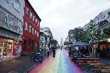 Reykjavik_096_08042021 - Enjoying more of the rainbow street in downtown Reykjavik as we approached Hallgrimskirkja