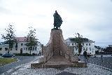 Reykjavik_117_08042021 - Looking at the backside of the Leifur Eriksson statue fronting Hallgrimskirkja