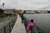 Reykjavik_Old_Harbor_056_08192021 - Looking at the bridge on the backside of the Reykjavik City Hall