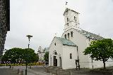Reykjavik_Old_Harbor_076_08192021 - Looking across a Luthern Church by another public square next to the Parliament House in downtown Reykjavik