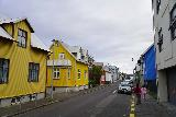 Reykjavik_Rtn_017_08182021 - The family heading back amongst the colorful buildings as we returned to the Tyr Apartments in downtown Reykjavik