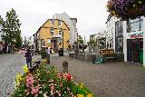 Reykjavik_Rtn_043_08212021 - Approaching the sloping rainbow street leading up to Hallgrimskirkja