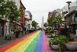 Reykjavik_Rtn_050_08212021 - Back at the attractive sloping rainbow street leading up to Hallgrimskirkja