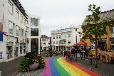 Reykjavik_Rtn_053_08212021 - Looking down the rainbow street from where we were eating and savoring our last experience in Iceland