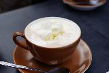 Reykjavik_Rtn_055_08212021 - Closeup look at a tasty hot chocolate with rich whipped cream at its top served up by Mokka in Reykjavik