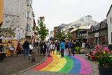 Reykjavik_Rtn_065_08212021 - Now the rainbow street got pretty busy as we were done eating our brunch in downtown Reykjavik
