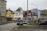Reykjavik_Rtn_095_08212021 - Approaching the colorful buildings near the Old Harbor of Reykjavik as we were approaching our car park