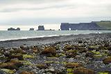 Reynisfjara_007_08072021 - Finally making it to the Reynisfjara Beach where we got this view of the sea arches at Dyrholaey in the distance