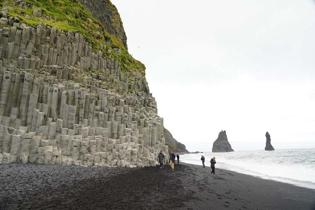 Reynisfjara_060_08072021 - Skógafoss was not too far west of Vík, which itself was close to perhaps Iceland's most famous beach at Reynisfjara thanks to its pronounced basalt columns juxtaposed with the black sand beach and the Reynisdrangar sea stacks behind it all