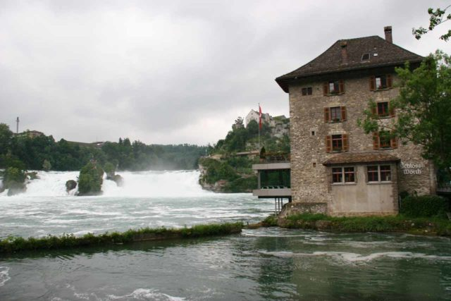 Rheinfall_262_06152010 - Context of Schlossli Worth and part of the Rhine Falls