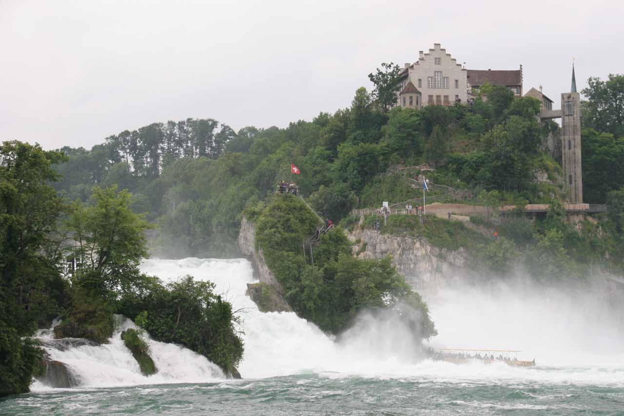 Looking towards Schloss Laufen and Rheinfall from the Schlossli Worth side