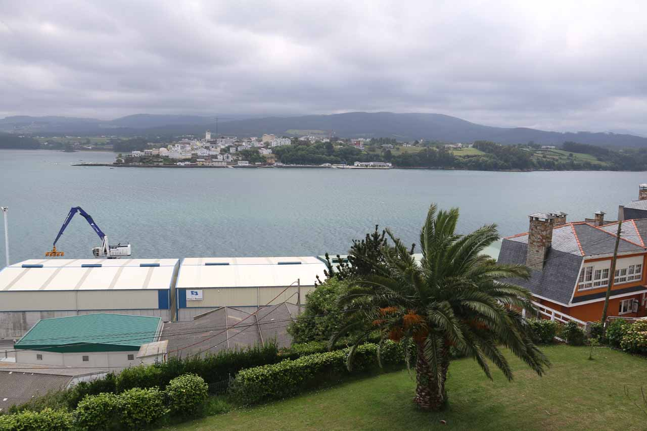 Looking out from our room at the Parador and towards the inlet and industrial port