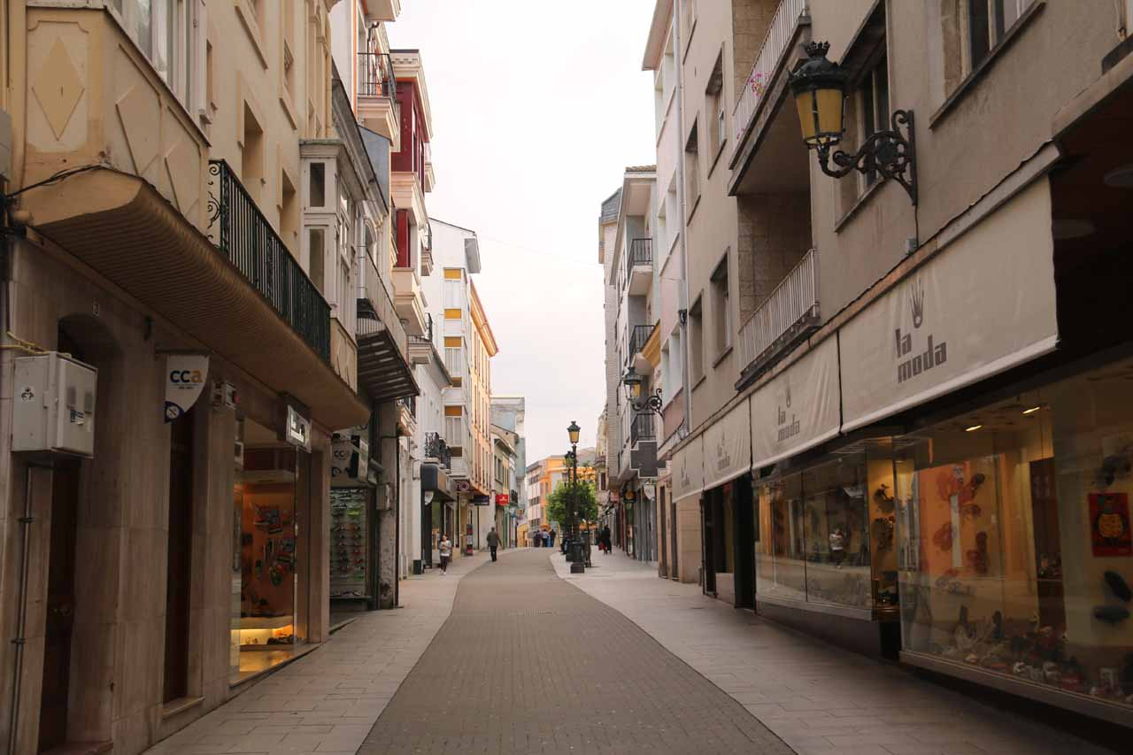This part of Ribadeo looked like it was lined with shops, but everything seemed closed at this time