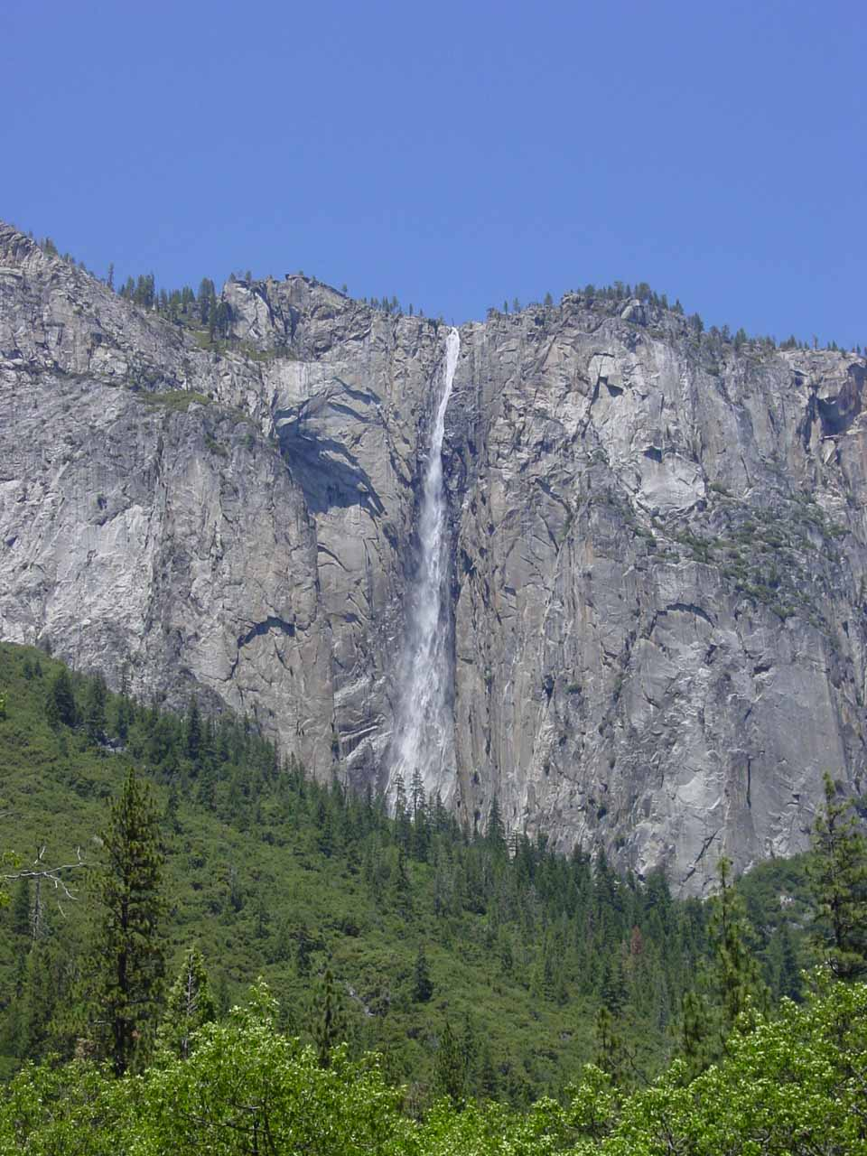 More contextual view of Ribbon Falls in late May 2002