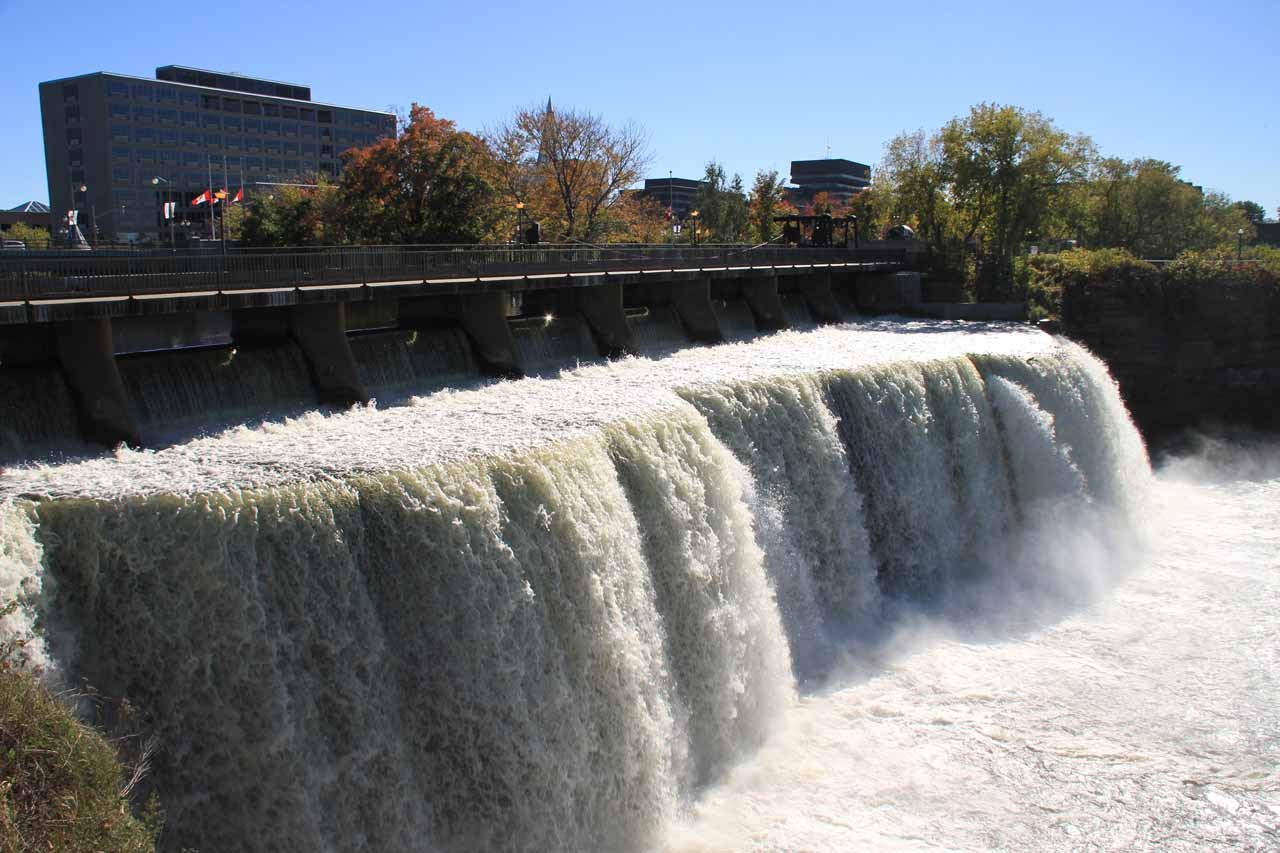 This was probably the most frontal look I was able to get of at least one of the Rideau Falls without going on a boat or viewing the falls from a distance at a city park across the Ottawa River