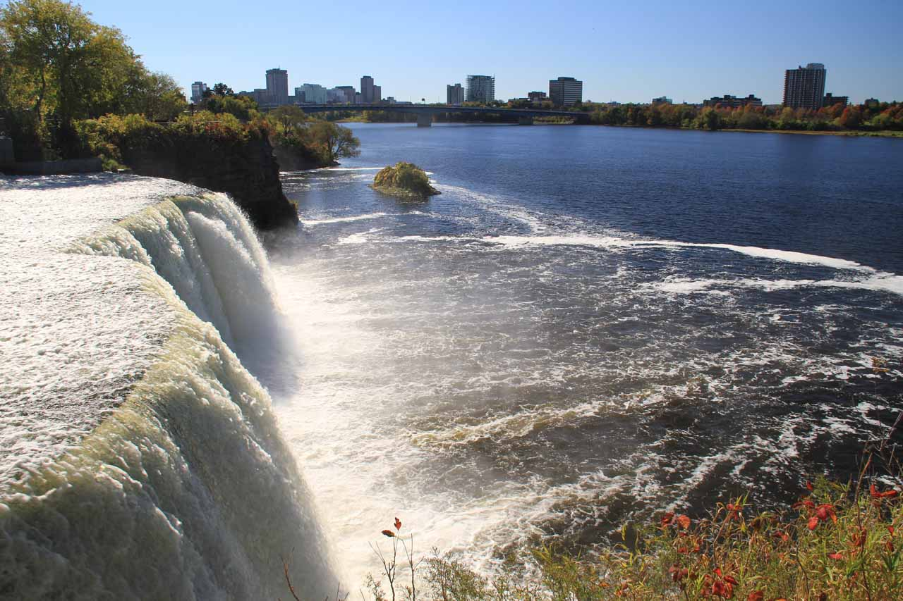 Looking back over the first Rideau Falls again