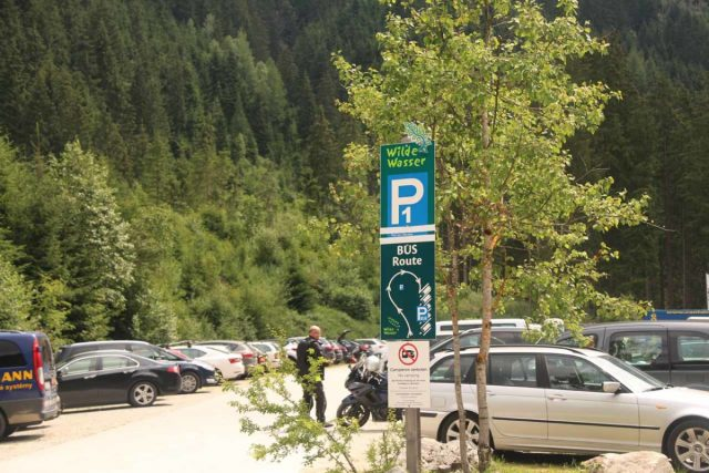 Riesachfalle_Schladming_004_07032018 - The nearest car park for the Riesachfälle was the P1 lot