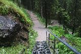Riesachfalle_Schladming_041_07032018 - Going back down the steps from the lookout at the base of the Lower Riesach Falls (Riesachfälle)