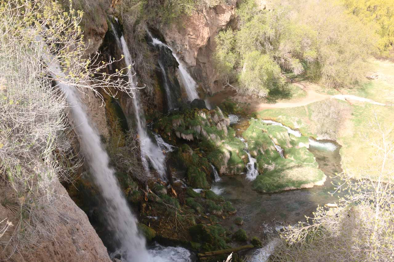 Another profile view of Rifle Falls, but this time it was from a higher vantage point at the protruding lookout