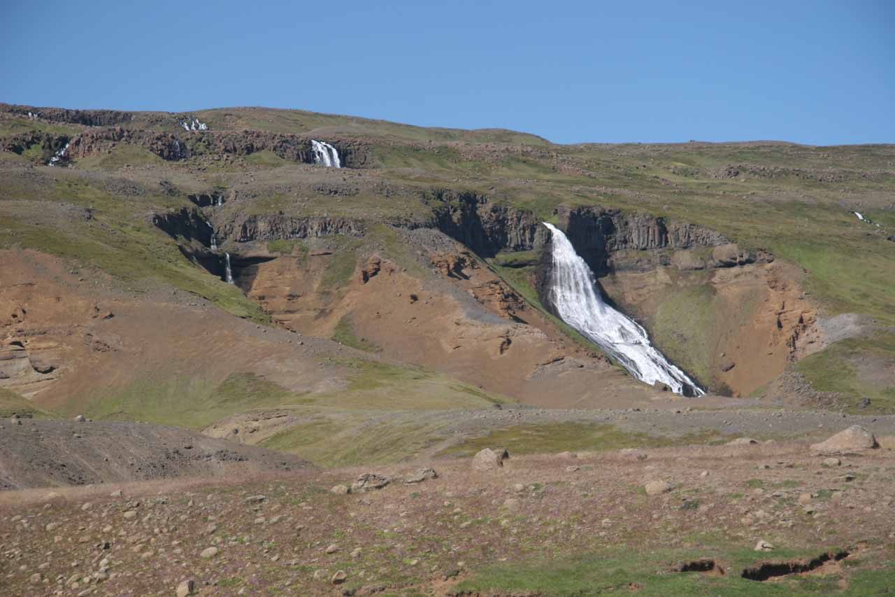 This was one of the other waterfalls we saw that was east of the signposted labeled Yst-i-Rjukandi
