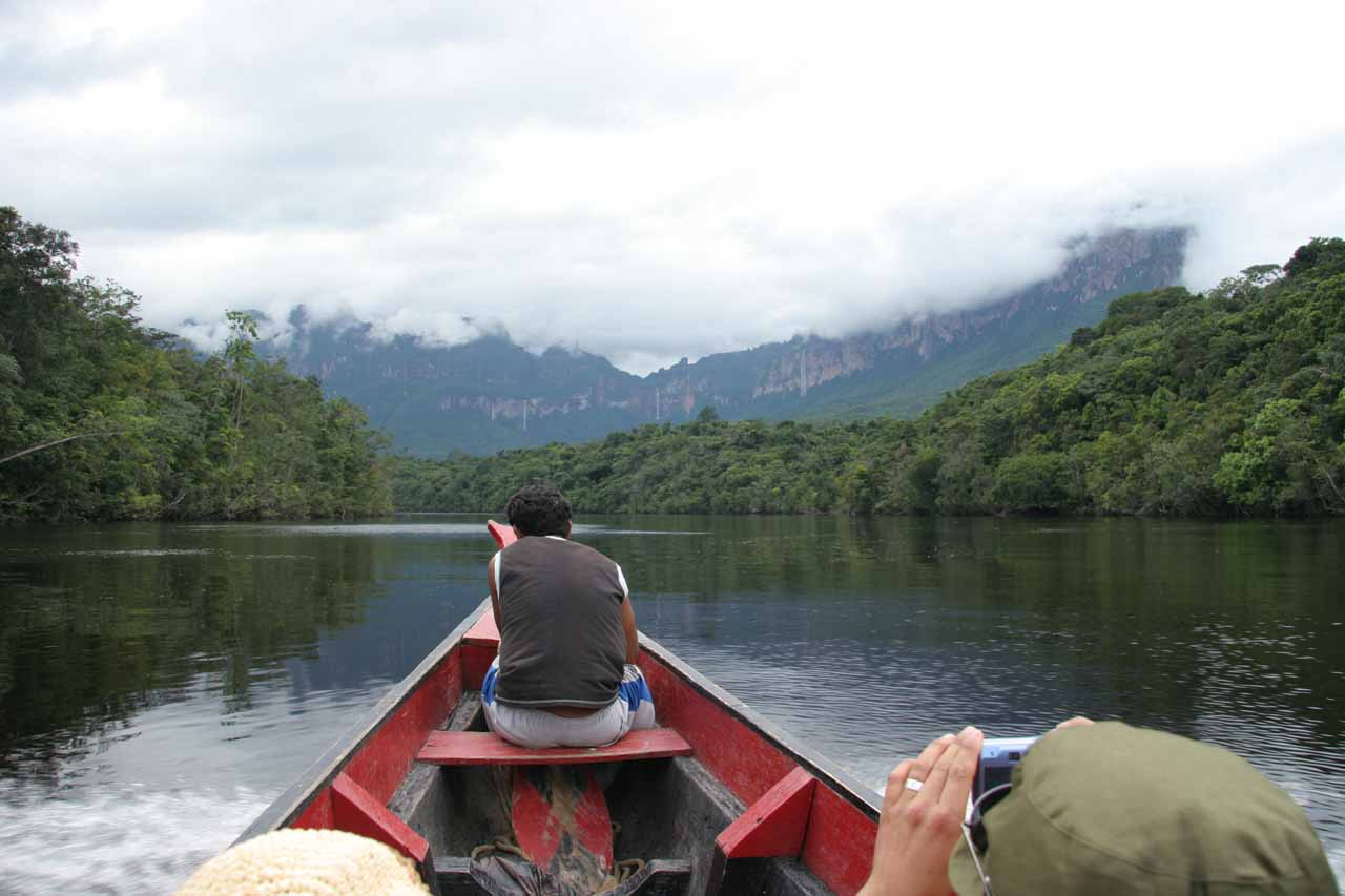 On the boat ride heading up Rio Carrao
