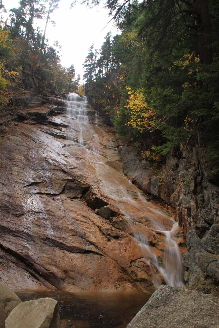 A more direct view of Ripley Falls looking steeper than the photo at the top of this page