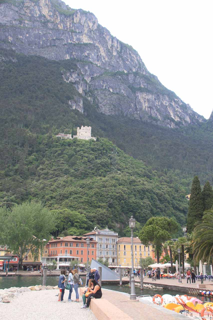The bastione perched above Riva del Garda