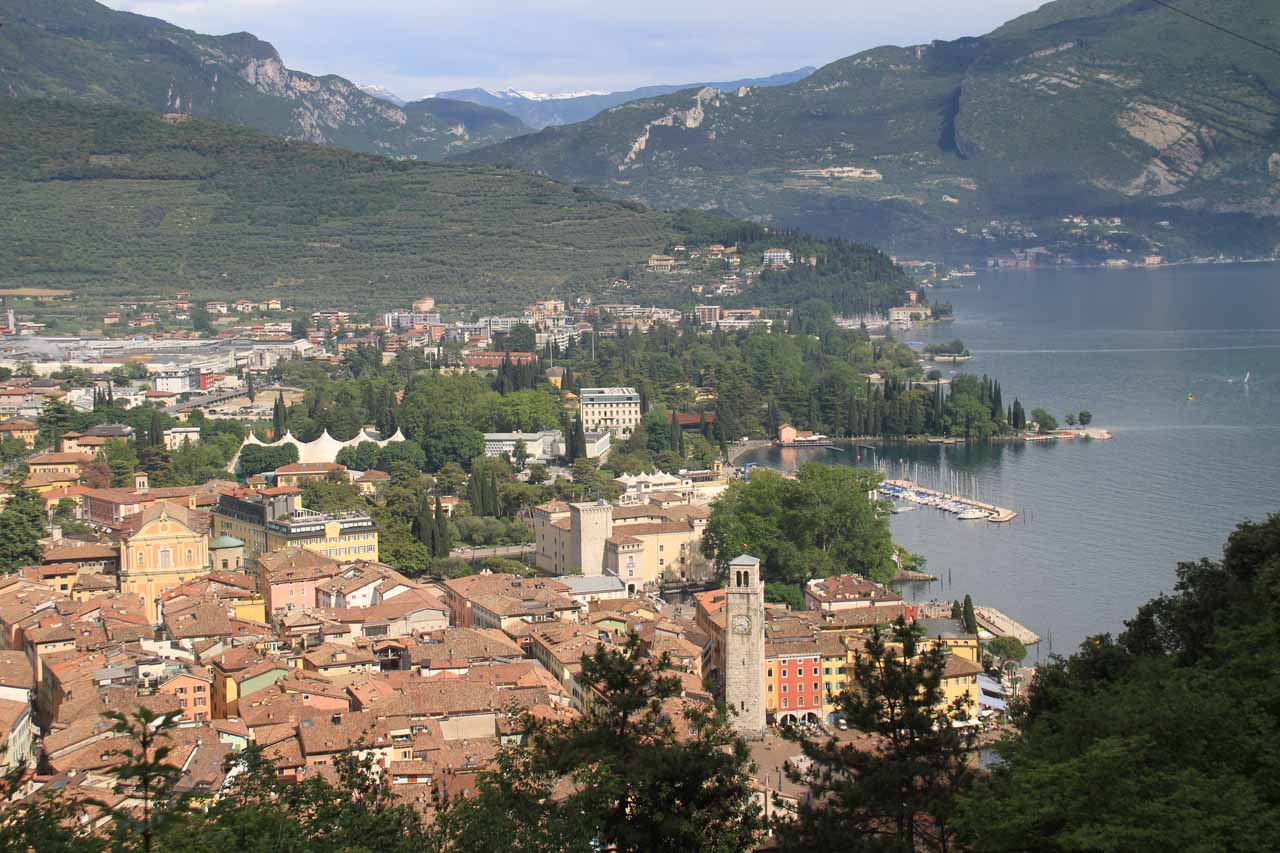 View of Riva del Garda and Lago di Garda from the bastione, which was a half-hour uphill walk from town
