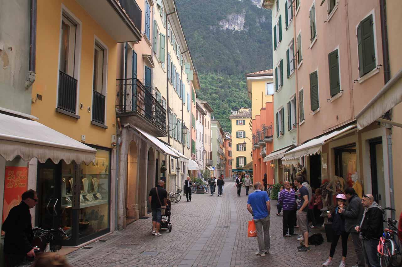 More shopping arcades as we were exploring Riva del Garda