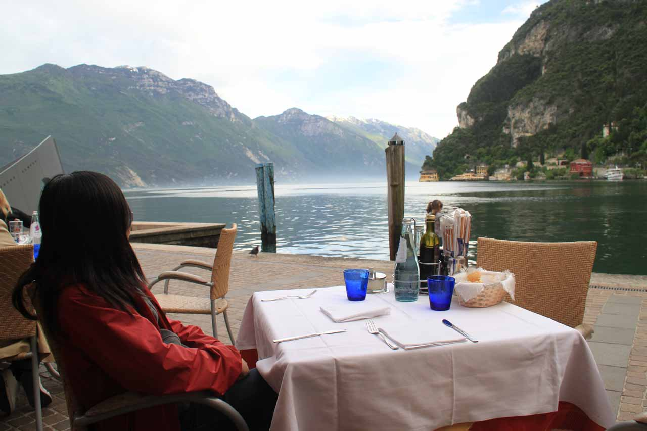 Thanks to mixing things up with waterfalls in a country like Italy, we not only prevented ourselves from historical fatigue, but we also discovered a place like Riva del Garda