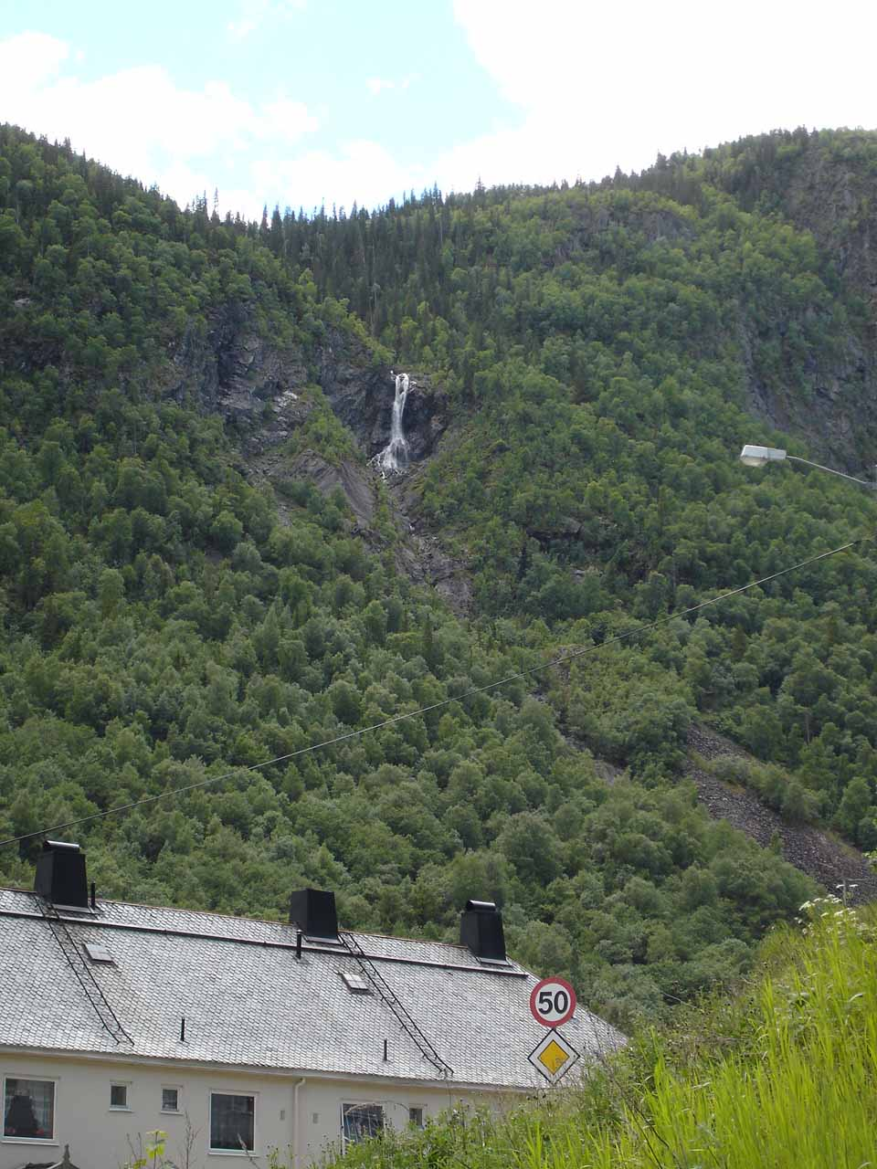 Some other waterfall seen from the town of Rjukan