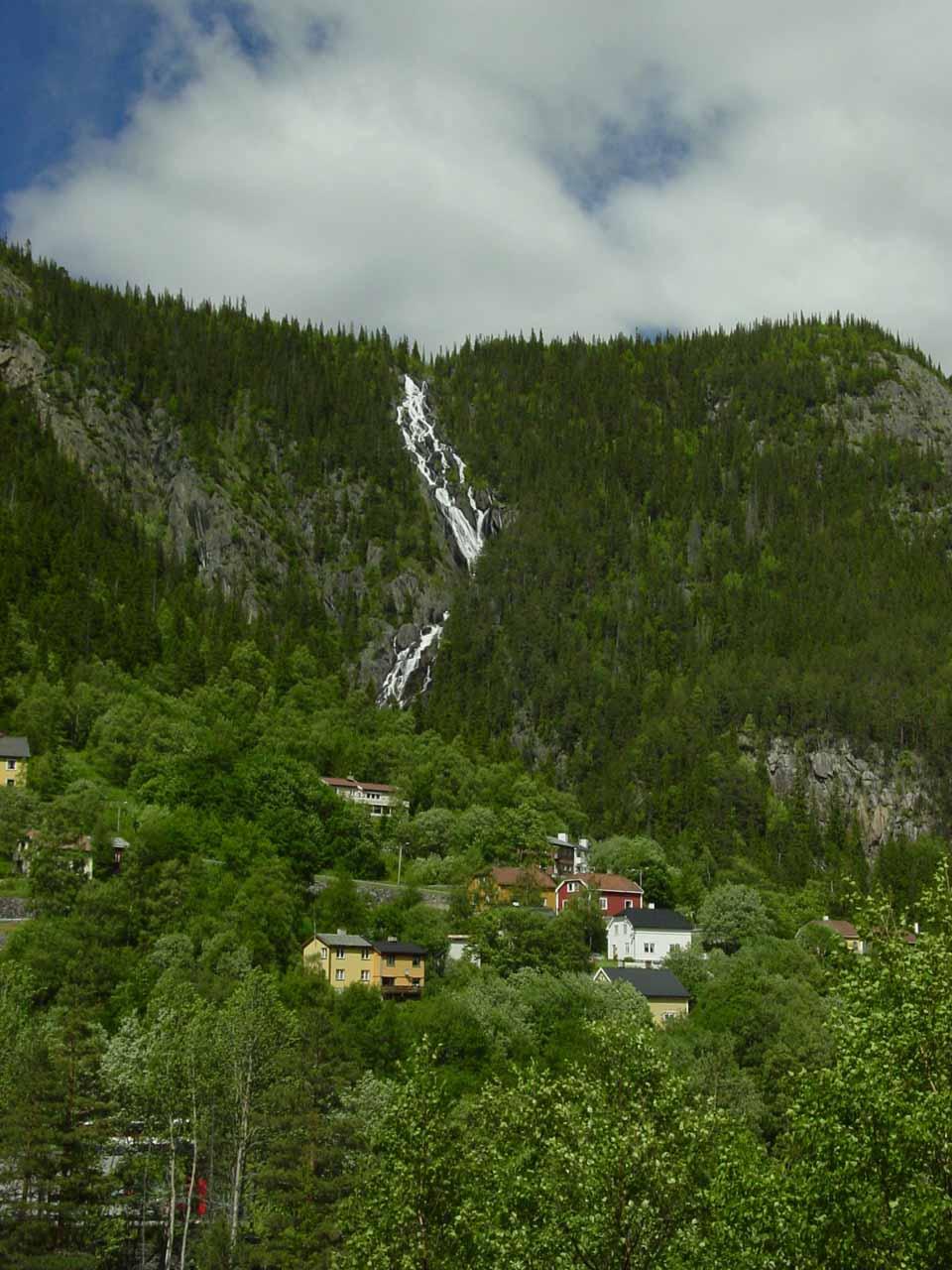 A waterfall in Rjukan