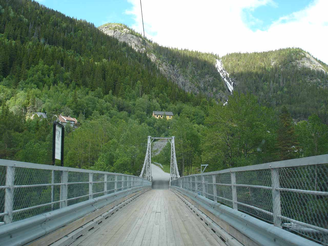 This narrow bridge was a pretty scary bridge to drive as we went between the Vemork Power Station and the town of Rjukan