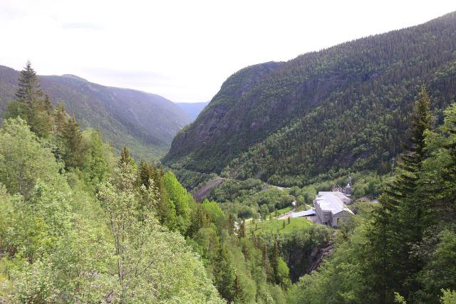 Rjukan_032_06192019 - Looking down into Vestfjorddalen towards the Vemork Power Station from the Rjukanfossen Trail
