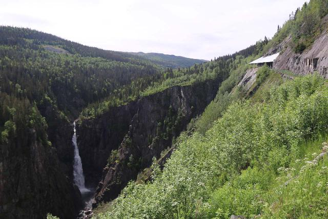 Rjukan_110_06192019 - Rjukanfossen was easy to miss because it sat outside the Maristitunnelen so motorists wouldn't even know to look for it due to the absence of Rjukanfossen road signs